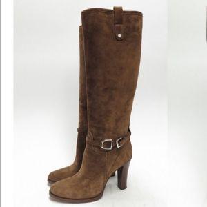 Ralph Lauren Collection Brown Suede Boots